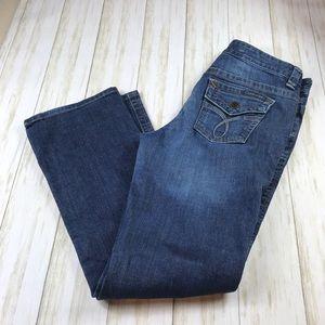 Calvin Klein Lean Boot Jeans in size 10